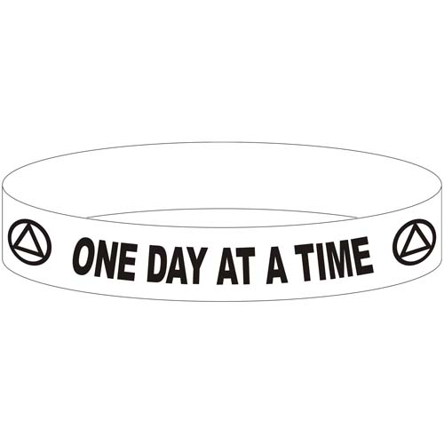 Aa Recovery Slogan Wristbands Silicone Wristbands For