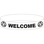 AA Welcome Wristband - WHITE