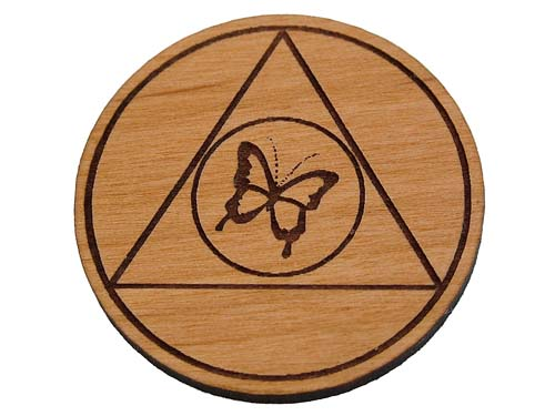 Wooden Al Anon Anniversary Medallions And Chips Al Anon Tokens And