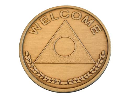 Bronze Al Anon Welcome Medallion Al Anon Chips Tokens And Coins