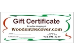 WoodenUrecover.com Gift Certificate