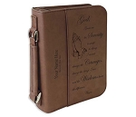Big Book Case - Dark Brown Leatherette w/Serenity Prayer
