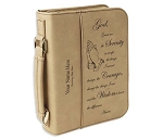 Big Book Case - Lite Brown Leatherette w/Serenity Prayer