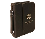 Personalized Big Book Cover - Black Leatherette w/Circle & Triangle