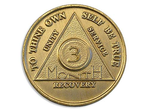 3 Month Bronze Aa Chips And Coins Alcoholics Anonymous