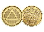 Circle Triangle Serenity Prayer Medallion