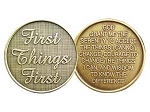 First Things First Serenity Prayer Medallion