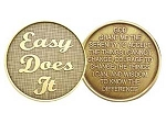 Easy Does It Serenity Prayer Medallion