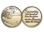 Serenity Peace Affirmation Medallion
