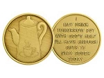 Coffee Pot Bronze Recovery Medallion