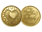 My Heart is in Recovery Affirmation Medallion