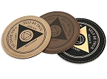 AA Leatherette Recovery Coasters
