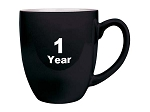 Simple Anniversary Bistro Coffee Cup