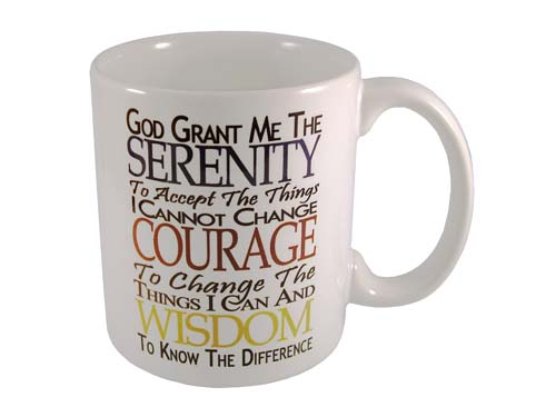 12 Step Recovery Gifts Serenity Prayer Coffee Cups At