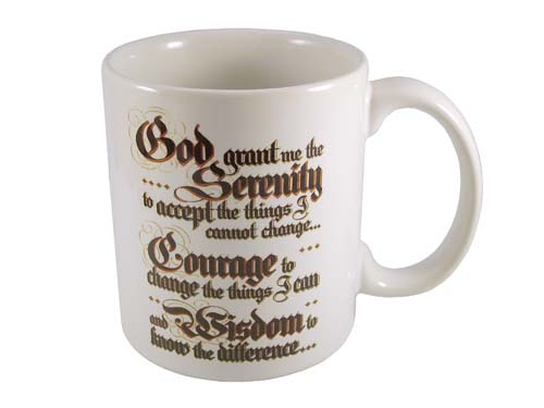 Recovery Gifts Serenity Prayer Coffee Mugs At