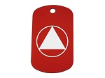 Personalized Circle and Triangle Dog Tag