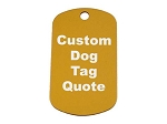 Custom Dog Tag Quote Request