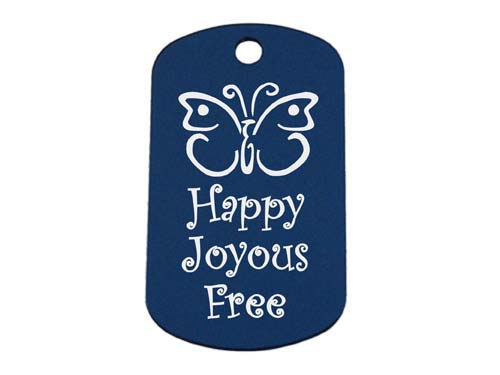 Happy Joyous And Fee Butterfly Personalized Laser