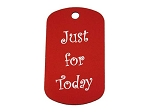 Personalized Dog Tag - Just For Today