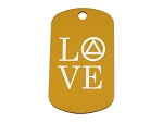 Personalized LOVE AA Dog Tag