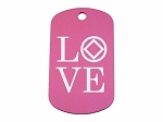 Personalized LOVE NA Dog Tag