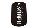 SOBER Dog Tag - Personalized