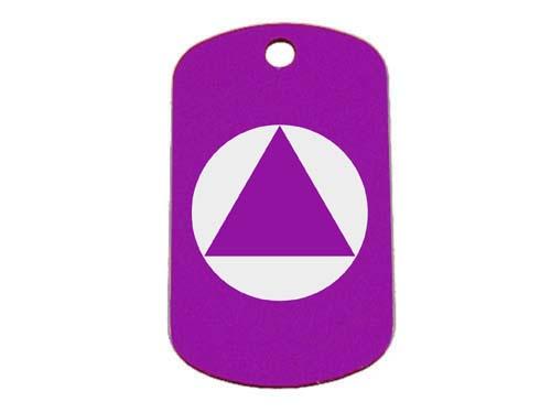 Purple Tag: Alcoholics Anonymous Symbol