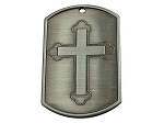 Recovery Dog Tag - Cross with Serenity Prayer