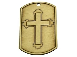 Dog Tag - Cross and Serenity Prayer