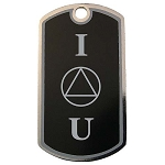 Personalized IOU AA Dog Tag