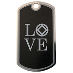 LOVE NA Dog Tag