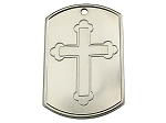 Recovery Dog Tags - Cross with Serenity Prayer
