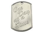 One Day at a Time Blank Back Recovery Dog Tags