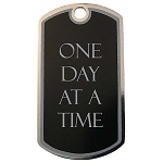 Personalized One Day at a Time Dog Tag