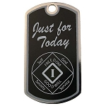 Personalized NA Birthday Dog Tag with Just for Today