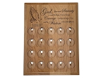 20 Slot Personalized Serenity Prayer Medallion Holder