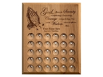 30 Slot Personalized Serenity Prayer Medallion Holder