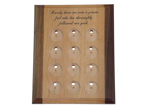 Deluxe Medallion Holders 12 Slot Chip Display Plaque