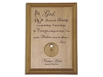 Serenity Prayer Medallion Holder Praying Hands