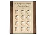 Deluxe 12 Recovery Token Holder/Display with Serenity Prayer