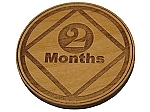 Narcotics Anonymous 2 Month Recovery Medallion