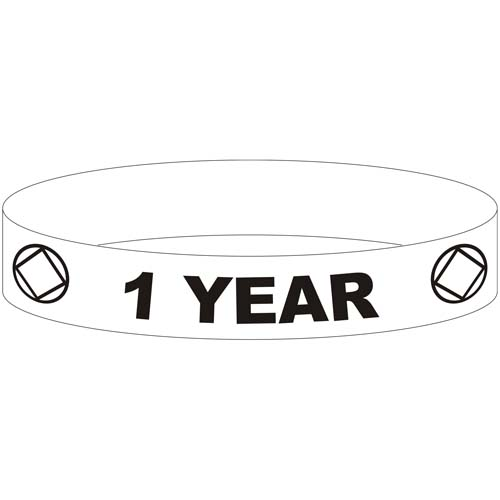 Glow In The Dark Wristbands For 1 Year Narcotics Anonymous Birthdays