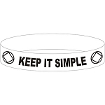 Keep It Simple NA Wristband
