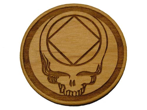 Grateful Dead Woody Medallion For Wharf Rats Na Stealie