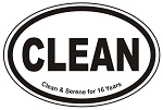 CLEAN Time Oval Sticker