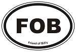 FOB Oval Sticker Decal