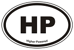 HP Oval Sticker Decal