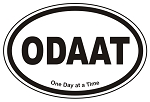 ODAAT Oval Sticker Decal