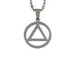 Stainless AA Circle and Triangle Pendant