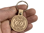Personalized Leather NA Anniversary Key Tag